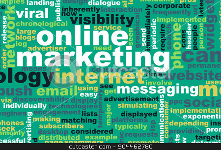 Online Marketing stock photo, Online Marketing as a Brand Technology Concept Art by Kheng Ho Toh