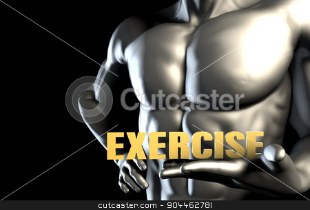 Exercise stock photo, Exercise With a Business Man Holding Up as Concept by Kheng Ho Toh