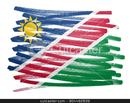 Flag illustration - Namibia stock photo, Flag illustration made with pen - Namibia by michaklootwijk