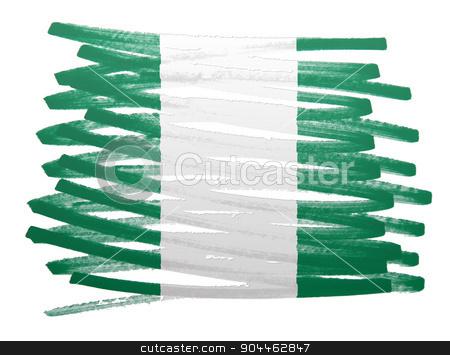 Flag illustration - Nigeria stock photo, Flag illustration made with pen - Nigeria by michaklootwijk