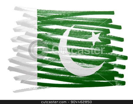 Flag illustration - Pakistan stock photo, Flag illustration made with pen - Pakistan by michaklootwijk