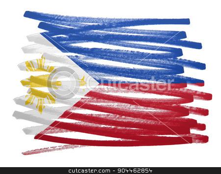 Flag illustration - Philippines stock photo, Flag illustration made with pen - Philippines by michaklootwijk