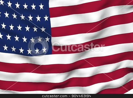 Image of a flag of USA stock photo, Image of a waving flag of USA by Anatolii Vasilev