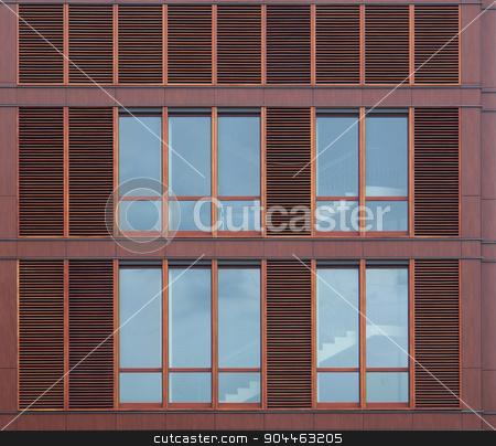 modern house facade stock photo, detail of a modern house facade with windows by prill