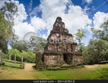 The rear of the Rankoth Vehera,  stock photo, The rear of the Rankoth Vehera, the largest Buddhist stupa at the ruins of the ancient kingdom capitol of Polonnaruwa, Sri Lanka by Vassiliy Kochetkov