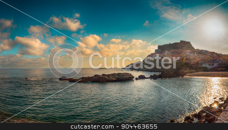 Landscape of castelsardo, sardinia.tif stock photo, beach near the city of castelsardo in a sunny day by Francesco