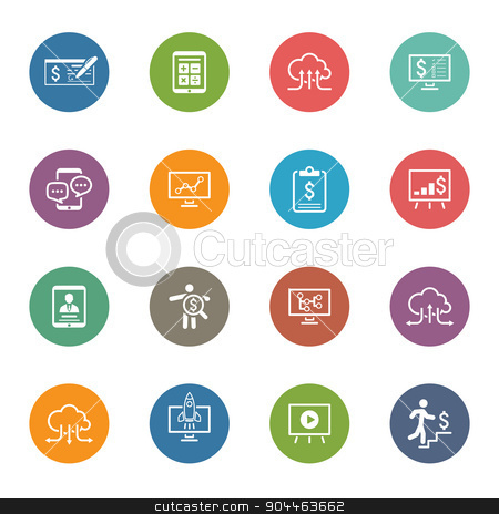 Business & Money Icons Set. Flat Design. stock vector clipart, Business & Money Icons Set. Flat Design. Isolated. by Vadym Nechyporenko