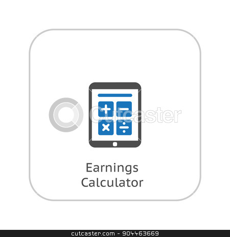 Earnings Calculator, Business Icon. Flat Design. stock vector clipart, Earnings Calculator, Business Icon. Flat Design. Isolated. by Vadym Nechyporenko