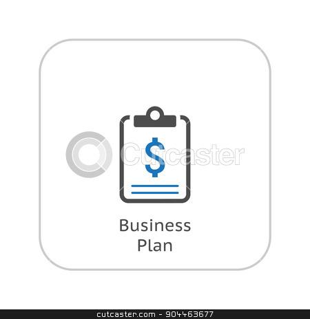 Business Plan Icon. Business Concept. Flat Design. stock vector clipart, Business Plan Icon. Business Concept. Flat Design. Isolated Illustration. by Vadym Nechyporenko