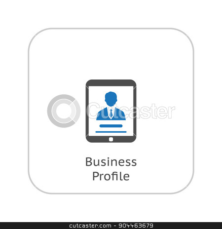 Business Profile Icon. Business Concept. Flat Design. stock vector clipart, Business Profile Icon. Business Concept. Flat Design. Isolated Illustration. by Vadym Nechyporenko