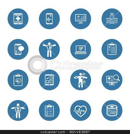 Medical & Health Care Icons Set. Flat Design. stock vector clipart, Medical & Health Care Icons Set. Flat Design. Isolated Illustration. by Vadym Nechyporenko