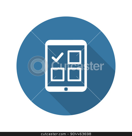 Appointment Request and Medical Services Icon. Flat Design. Long stock vector clipart, Appointment Request and Medical Services Icon. Flat Design. Isolated. Long Shadow. by Vadym Nechyporenko