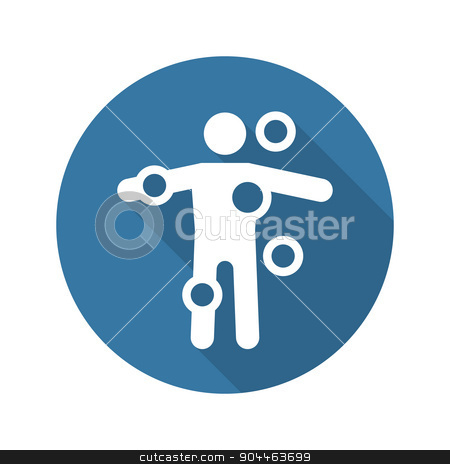 Symptom Checker and Medical Services Icon. Flat Design. Long Sha stock vector clipart, Symptom Checker and Medical Services Icon. Flat Design. Isolated. Long Shadow. by Vadym Nechyporenko