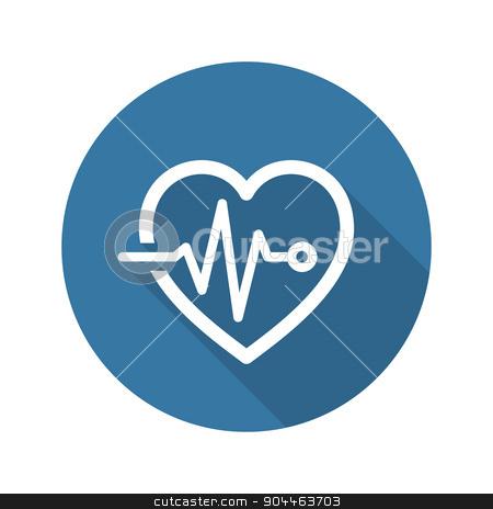 Cardiogram and Medical Services Icon. Flat Design. Long Shadow. stock vector clipart, Cardiogram and Medical Services Icon. Flat Design. Isolated. Long Shadow. by Vadym Nechyporenko