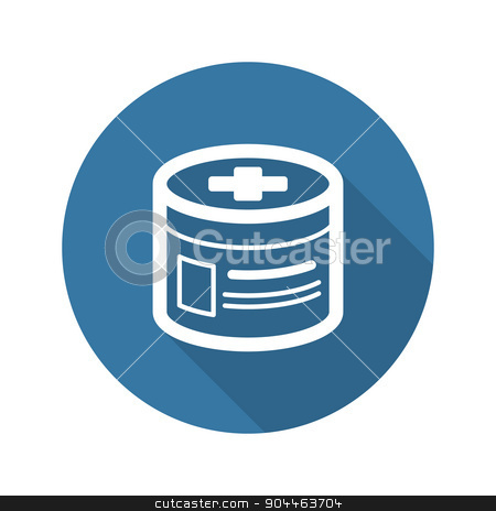 Pharmaceutical Drugs and Medical Services Icon. Flat Design. Lon stock vector clipart, Pharmaceutical Drugs and Medical Services Icon. Flat Design. Isolated. Long Shadow. by Vadym Nechyporenko