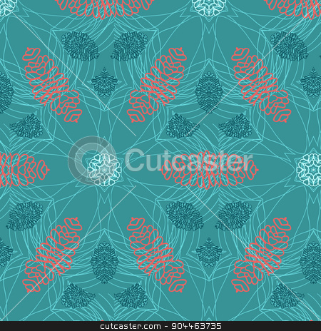 Abstract background ornament geometric vintage seamless stock vector clipart, Abstract background ornament geometric vintage seamless pattern by BELL1313