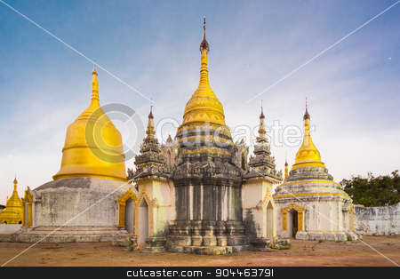 Ancient buddhist temple, Pindaya, Burma, Myanmar. stock photo, Ancient temple close to Pindaya Cave located next to the town of Pindaya, Shan State, Burma, Myanmar,  Famous buddhist pilgrimage site and a tourist attraction. by kasto