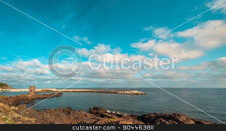 Landscape of castelsardo, sardinia stock photo, beach near the city of castelsardo in a sunny day by Francesco