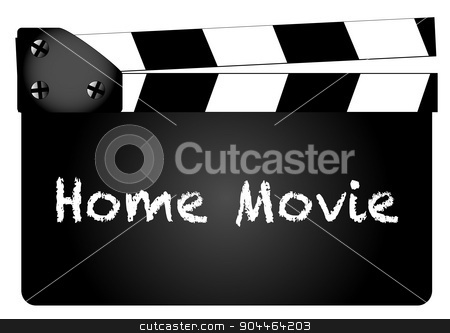 Home Movie stock vector clipart, A typical movie clapperboard with the text my movie isolated on white. by Kotto