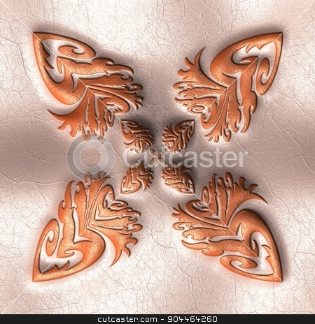 Pattern background leather tile  stock photo, Luxury background  tile with embossed pattern on leather by Maria Repkova