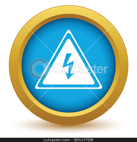 Gold voltage icon stock vector clipart, Gold voltage icon on a white background. Vector illustration by ylivdesign