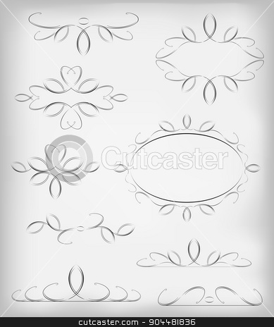 Black and white vector set a lot of design elements and page decoration. EPS10 vector illustration stock vector clipart, Black and white vector set a lot of design elements and page decoration. EPS10 vector illustration. by volartman