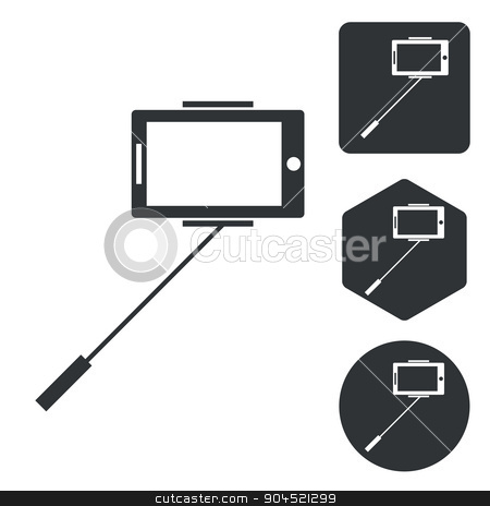 Tablet PC icon set, monochrome stock vector clipart, Tablet PC icon set, monochrome, isolated on white by ylivdesign