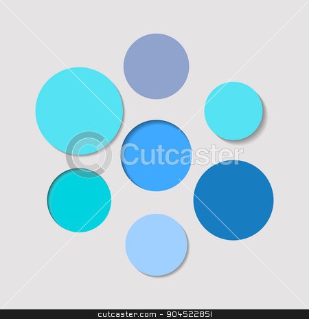 Abstract vector background stock vector clipart, Abstract vector background blue circles with shadows by blumer