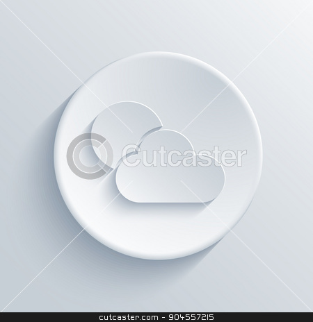 Vector modern light circle icon with shadow stock vector clipart, Vector modern weather light circle icon with shadow by petr zaika