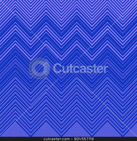 Geometric Vibrating Wave Pattern stock vector clipart, Geometric Vibrating Blue Wave Pattern. Stylish Decorative Background with  Zigzags by valeo5