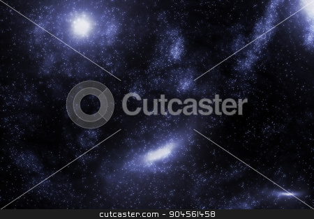 Stars and galaxy space starry sky night background. Universe filled with stars illustration. stock photo, Stars and galaxy space starry sky night background. Universe filled with stars illustration.  by Anna Kaczor