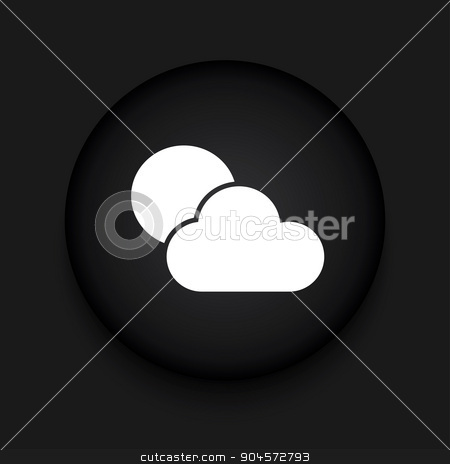 Vector modern weather black circle icon stock vector clipart, Vector modern weather black circle icon with shadow by petr zaika