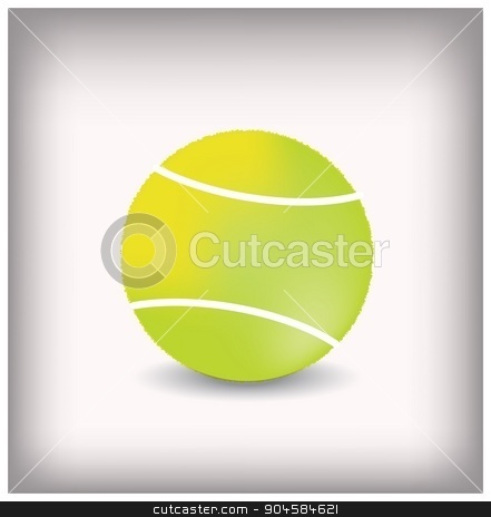 Tennis ball icon - Vector isolated on white background stock vector clipart, Tennis ball icon - Vector isolated on white background by Anna Kaczor