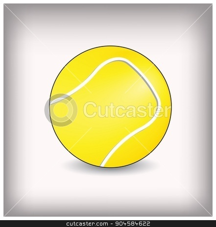 Tennis ball vector illustration stock vector clipart, Tennis ball vector illustration by Anna Kaczor