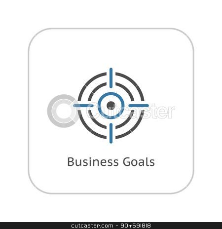 Business Goals Icon. Flat Design. stock vector clipart, Business Goals Icon. Business Concept. Flat Design. Isolated Illustration. by Vadym Nechyporenko