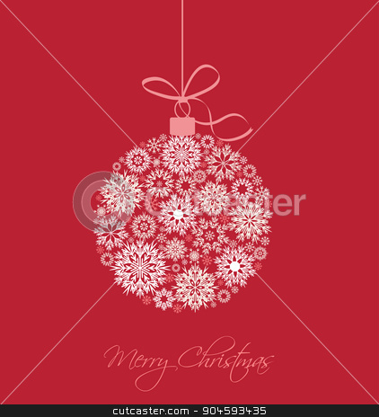 Christmas background stock vector clipart, Christmas balls made from snowflakes vector illustration by Miroslava Hlavacova