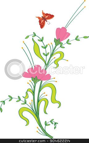 Card Design Artistic Flower stock vector clipart, Card Design Artistic Flower Vector Art by Ajay Shrivastava
