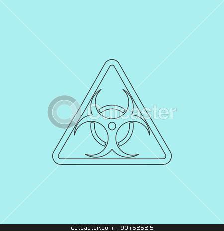 Biohazard Symbol Icon Isolated Stock Vector