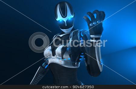 Cyborg female stock photo, Advanced female cyborg character by Jesse-lee Lang