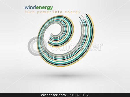 windmill creative colorful abstract vector logo design template