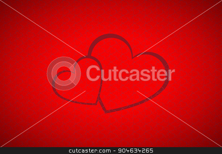 Valentines background stock vector clipart, Valentines background, simple two hearts by kurkalukas