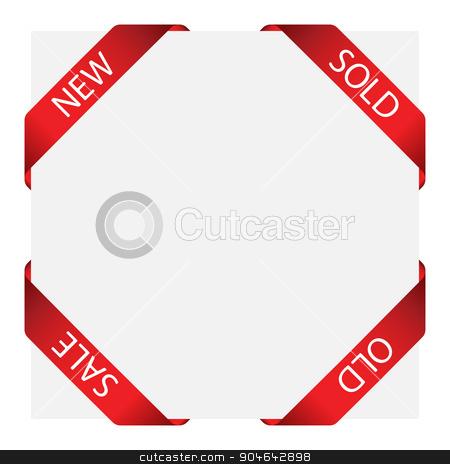 set of ribbon labels stock vector clipart, Set of vector ribbon labels for design use by angelp