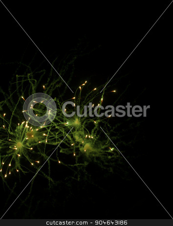 Fireworks on the dark sky stock photo, Photo of fireworks isolated on the dark sky by GPimages