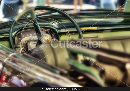 Classic car detail stock photo, Classic car interior detail, shallow DOF photo by GPimages