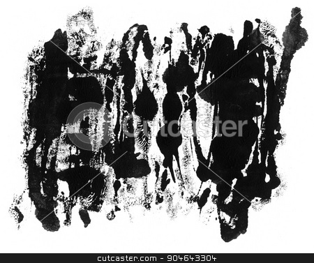 Grunge ink texture isolated on white stock photo, Grunge ink texture or design element  isolated on white background by GPimages