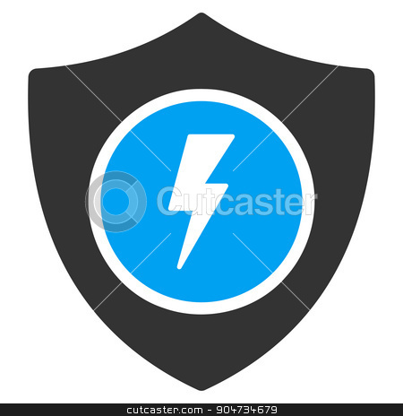 Electric Guard Icon stock vector clipart, Electric Guard vector icon. Style is flat symbol, rounded angles, white background by ahasoft
