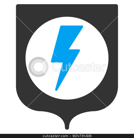 Electric Protection Icon stock vector clipart, Electric Protection vector icon. Style is flat symbol, rounded angles, white background by ahasoft