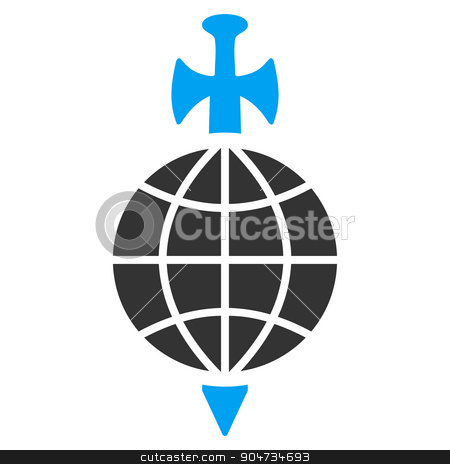 Global Guard Icon stock vector clipart, Global Guard vector icon. Style is flat symbol, rounded angles, white background by ahasoft