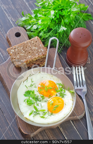 fried eggs stock photo, fried eggs by tycoon