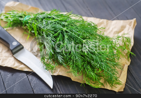 fresh dill stock photo, fresh dill by tycoon
